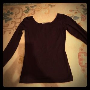 Eggplant fitted long sleeve top from garage